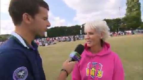 Judy Murray Live @ Wimbledon interview