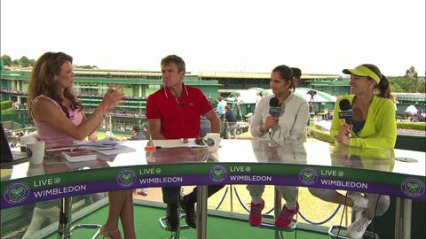 Martina Hingis and Sania Mirza visit the Live @ Wimbledon studio