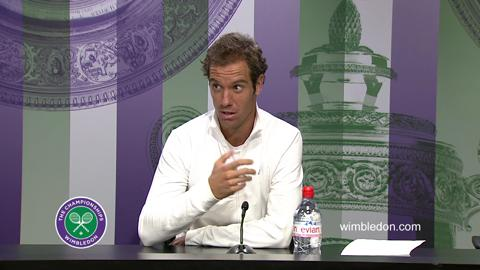 Richard Gasquet Fourth Round Press Conference