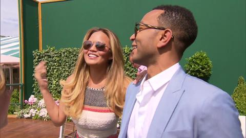 John Legend and Chrissy Teigen Live @ Wimbledon interview