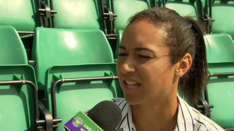 Heather Watson Live @ Wimbledon interview