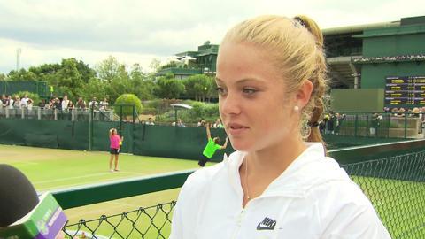 Katie Swan Live @ Wimbledon interview