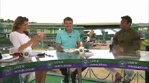 Leander Paes visits the Live @ Wimbledon studio