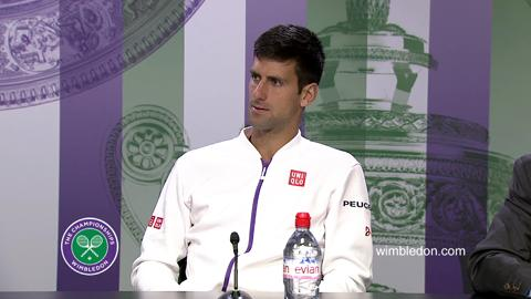 Novak Djokovic Fourth Round Press Conference