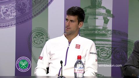 Novak Djokovic Fourth Round Press Conference