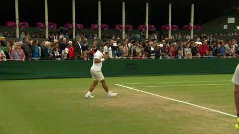 Novak Djokovic on the practice court