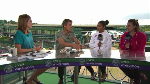 Raquel Kops-Jones and Abigail Spears visit the Live @ Wimbledon studio