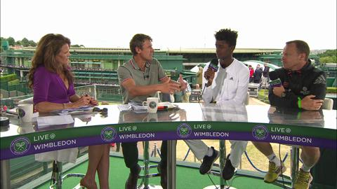Mikael Ymer visits the Live @ Wimbledon studio