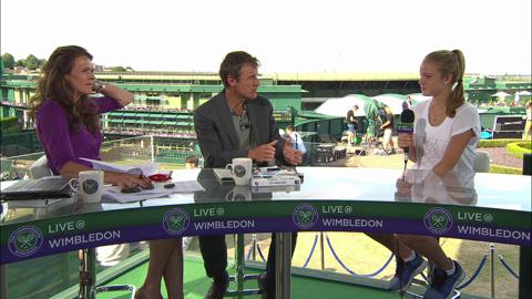 Katie Swan visits the Live @ Wimbledon studio