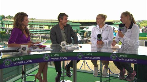Elena Vesnina and Ekaterina Makarova visits the Live @ Wimbledon studio