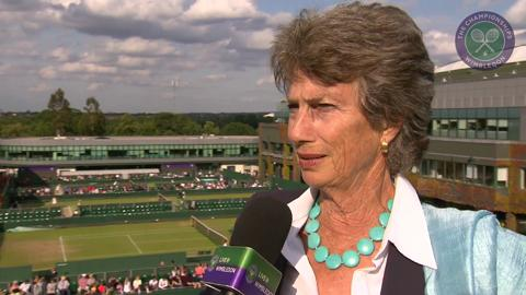 Virginia Wade Live @ Wimbledon interview