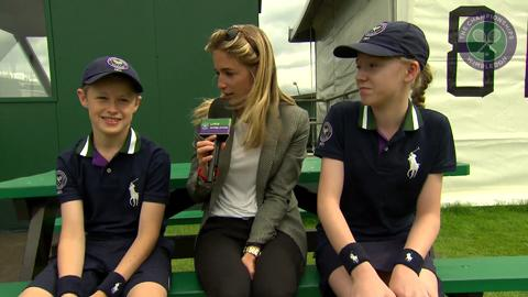 Live @ Wimbledon's Rachel Stringer meets the ball boys and girls