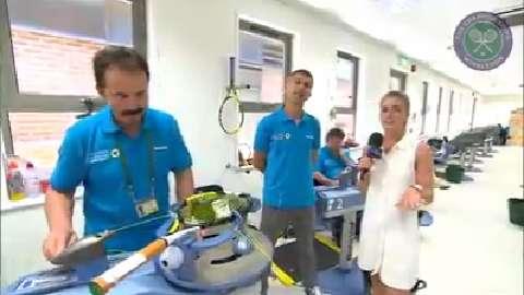 Live @ Wimbledon meets the racquet stringers