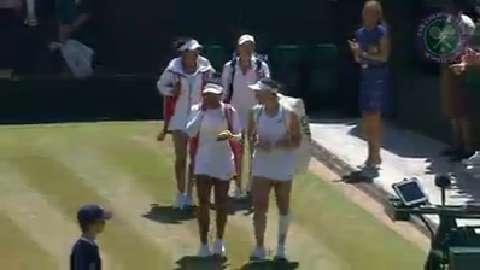 2015 Day 11 Highlights, Martina Hingis & Sania Mirza vs Raquel Kops-Jones & Abigail Spears, Semi-Final