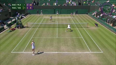 2015 Day 11 Highlights, Timea Babos & Kristina Mladenovic vs Ekaterina Makarova & Elena Vesnina, Semi-Final