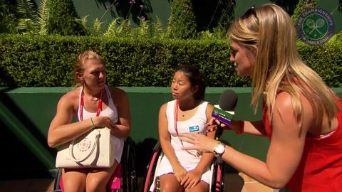 Jordanne Whiley and Yui Kamiji Live @ Wimbledon interview