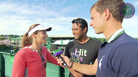 Martina Hingis and Leander Paes Live @ Wimbledon interview