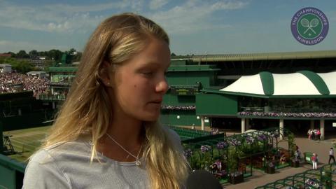 Sofya Zhuk Live @ Wimbledon interview