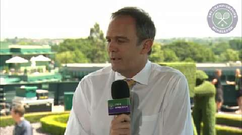 Paul Annacone visits the Live @ Wimbledon studio