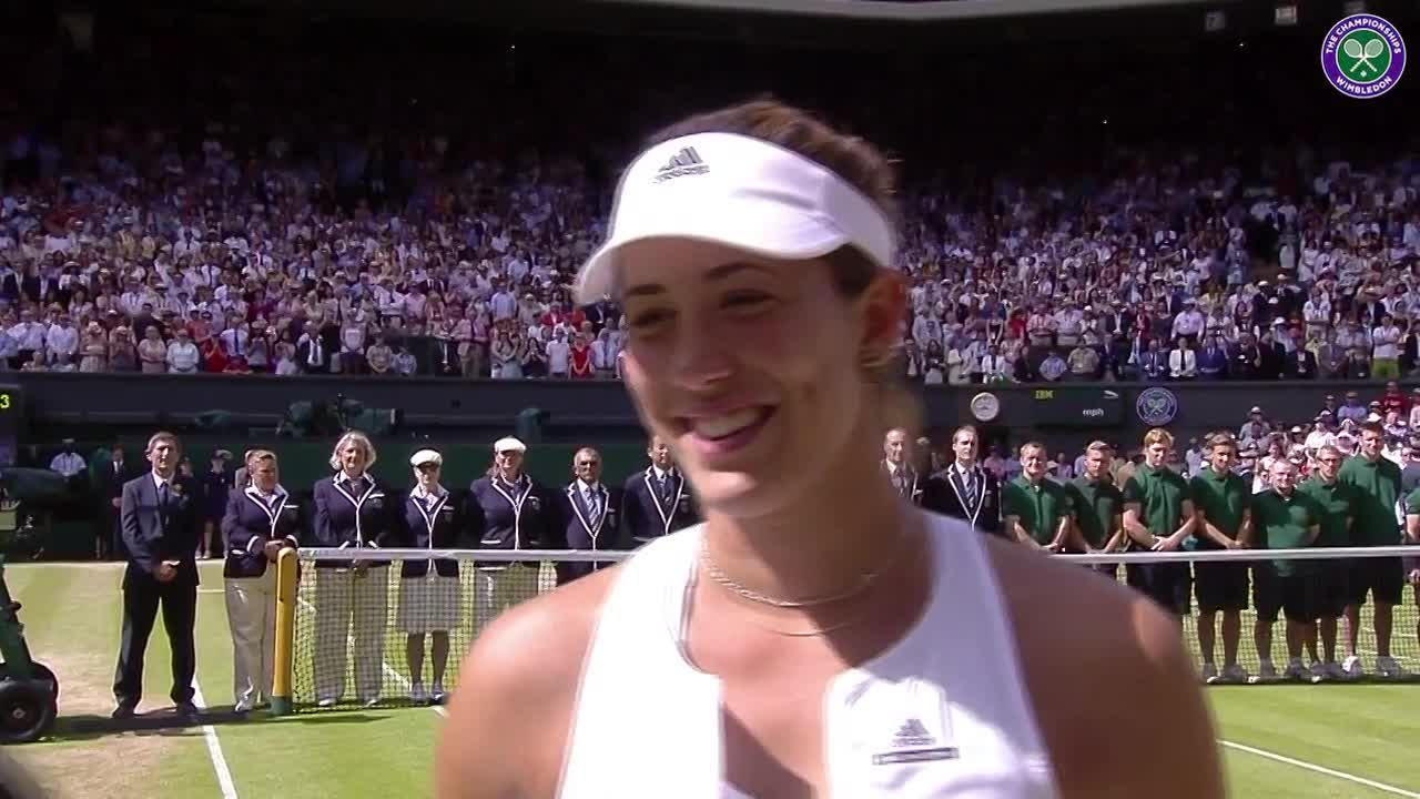 Muguruza's final interview
