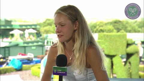 Sofya Zhuk visits the Live @ Wimbledon studio