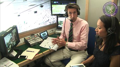 Rob Walker and Anne Keothavong in the commentary box
