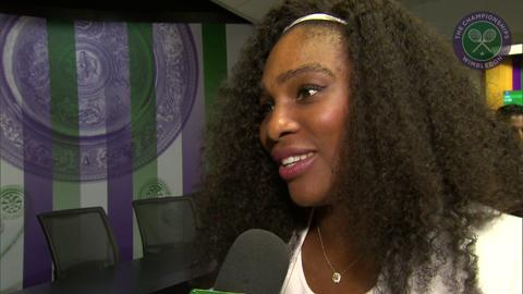 Serena Williams Live @ Wimbledon interview