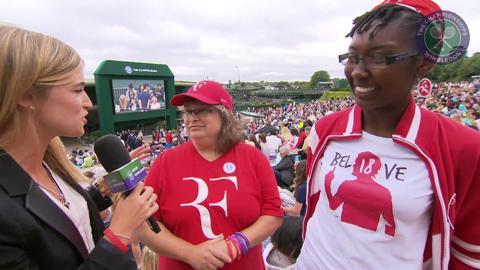 Rachel Stringer meets Roger Federer's biggest fans
