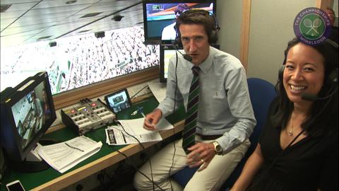 Rob Walker and Anne Keothavong in the commentary box during that epic tie-break