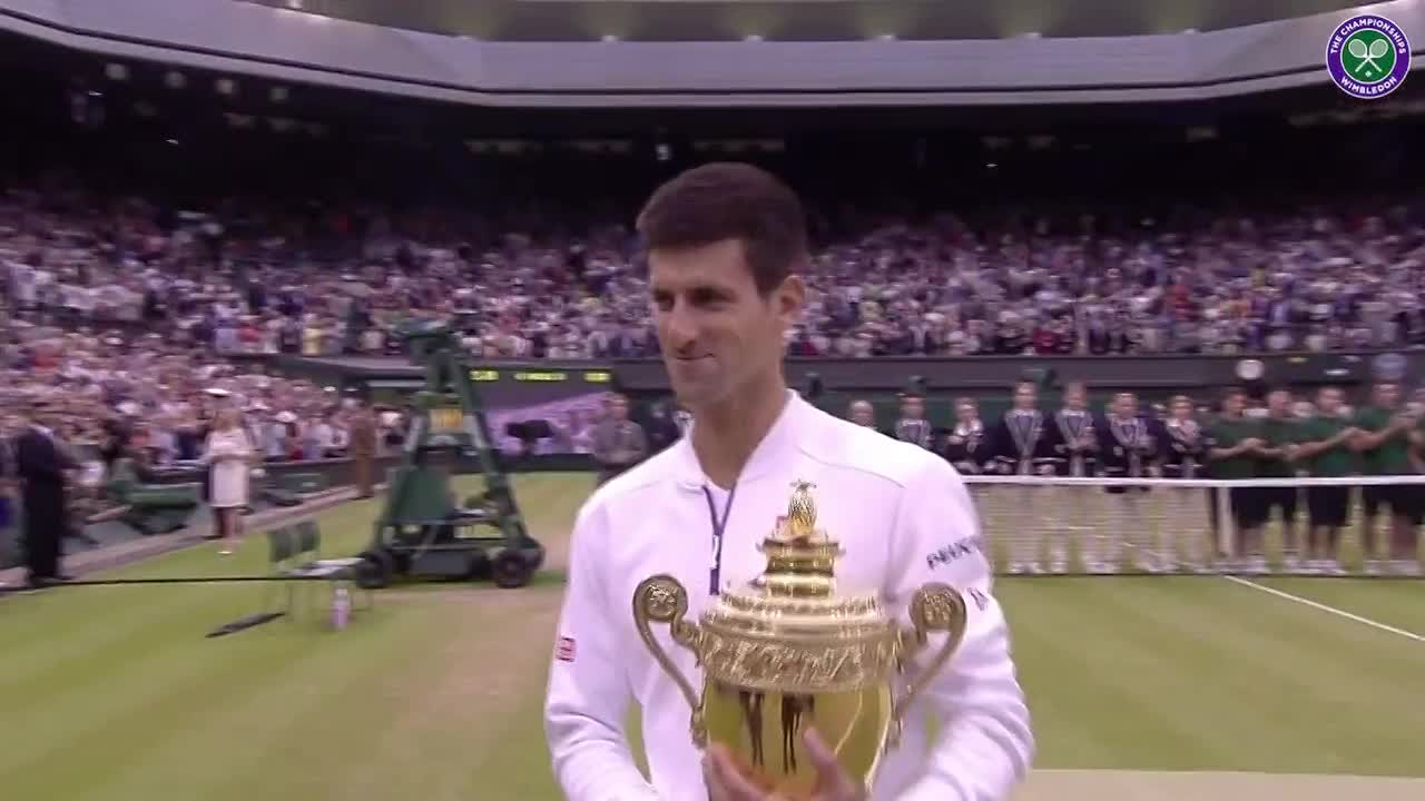 Djokovic's on-court interview