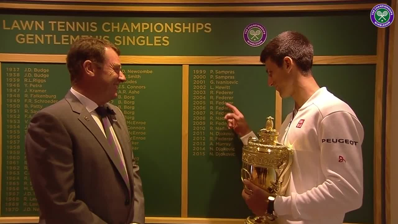 Djokovic eyes up the Roll of Honour