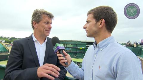 Andrew Castle Live @ Wimbledon interview