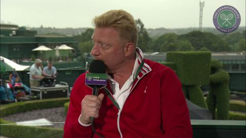 Boris Becker visits the Live @ Wimbledon studio