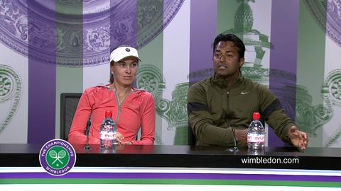 Leander Paes & Martina Hingis Final Press Conference