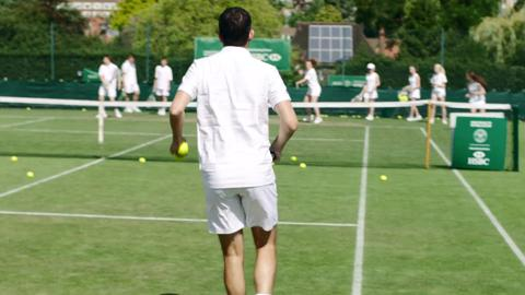 Clinics with Tim Henman at Road to Wimbledon
