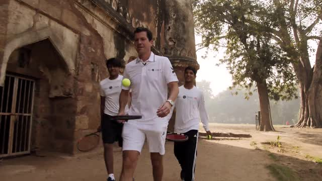 Tim Henman and Road to Wimbledon visit Lodhi Gardens