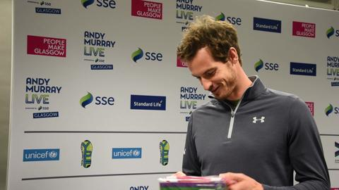 A gift for Sophia Murray from Wimbledon