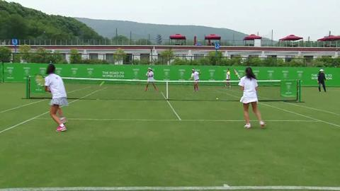 Road to Wimbledon China provides youngsters with first taste of grass