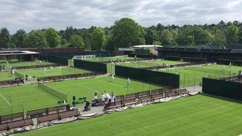 Watch: Wimbledon grass courts opened up to members