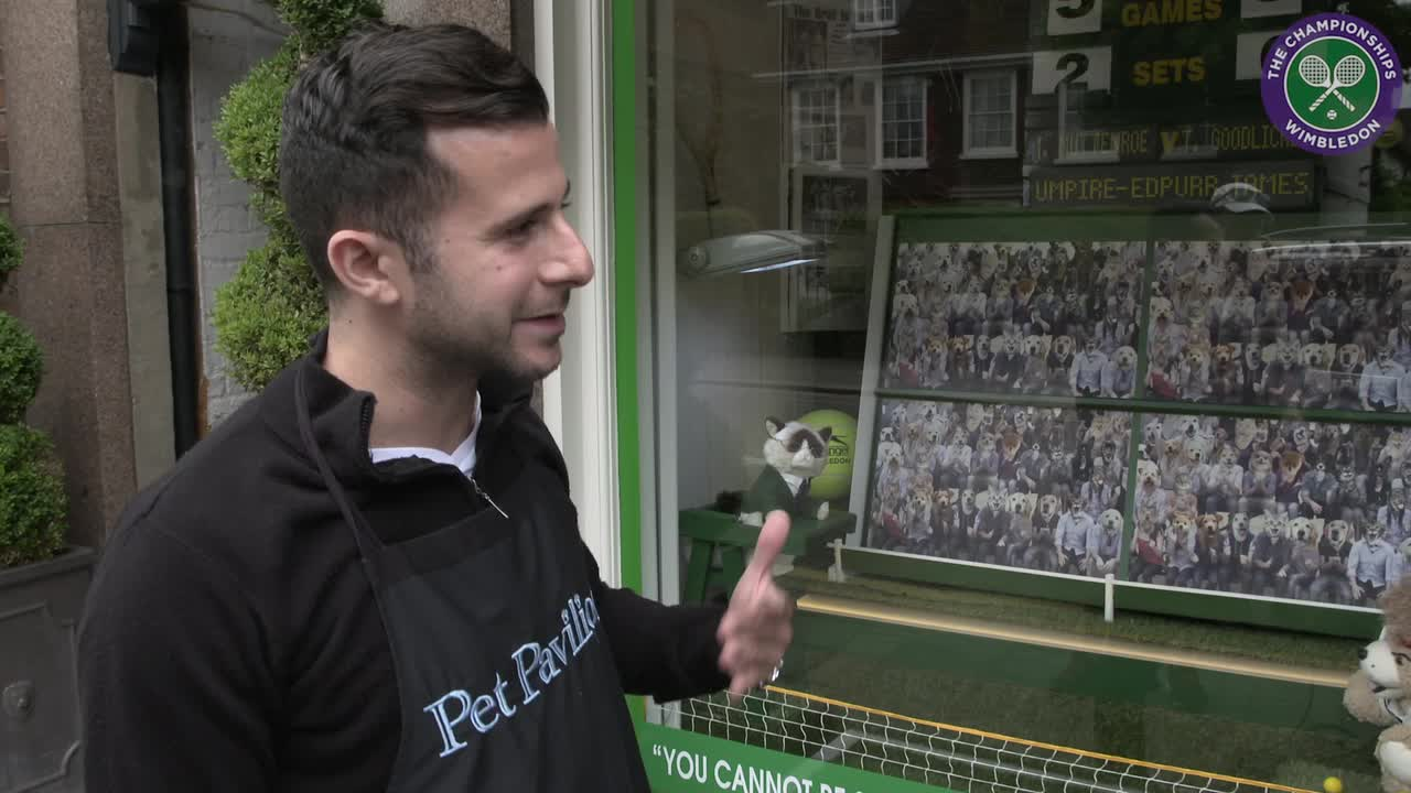 Wimbledon village shopkeepers compete for best tennis themed window