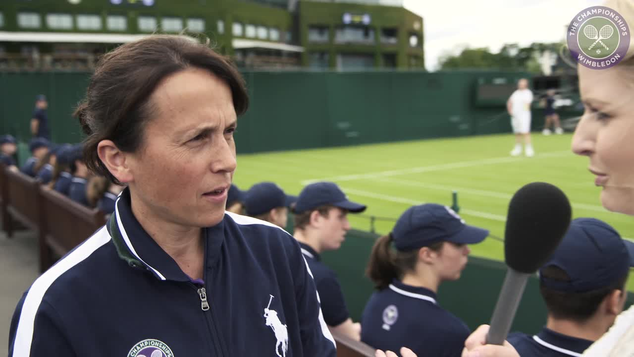 Ball boys and girls get ready for Wimbledon