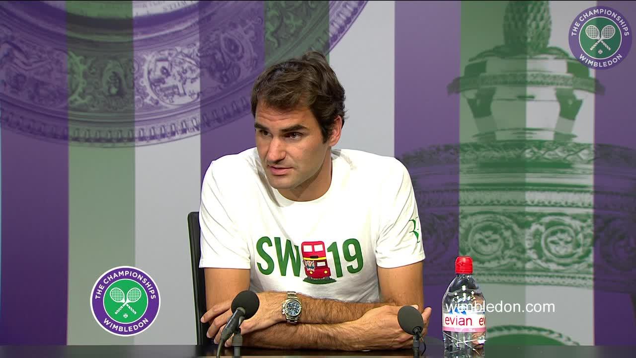 Roger Federer pre-Championships press conference