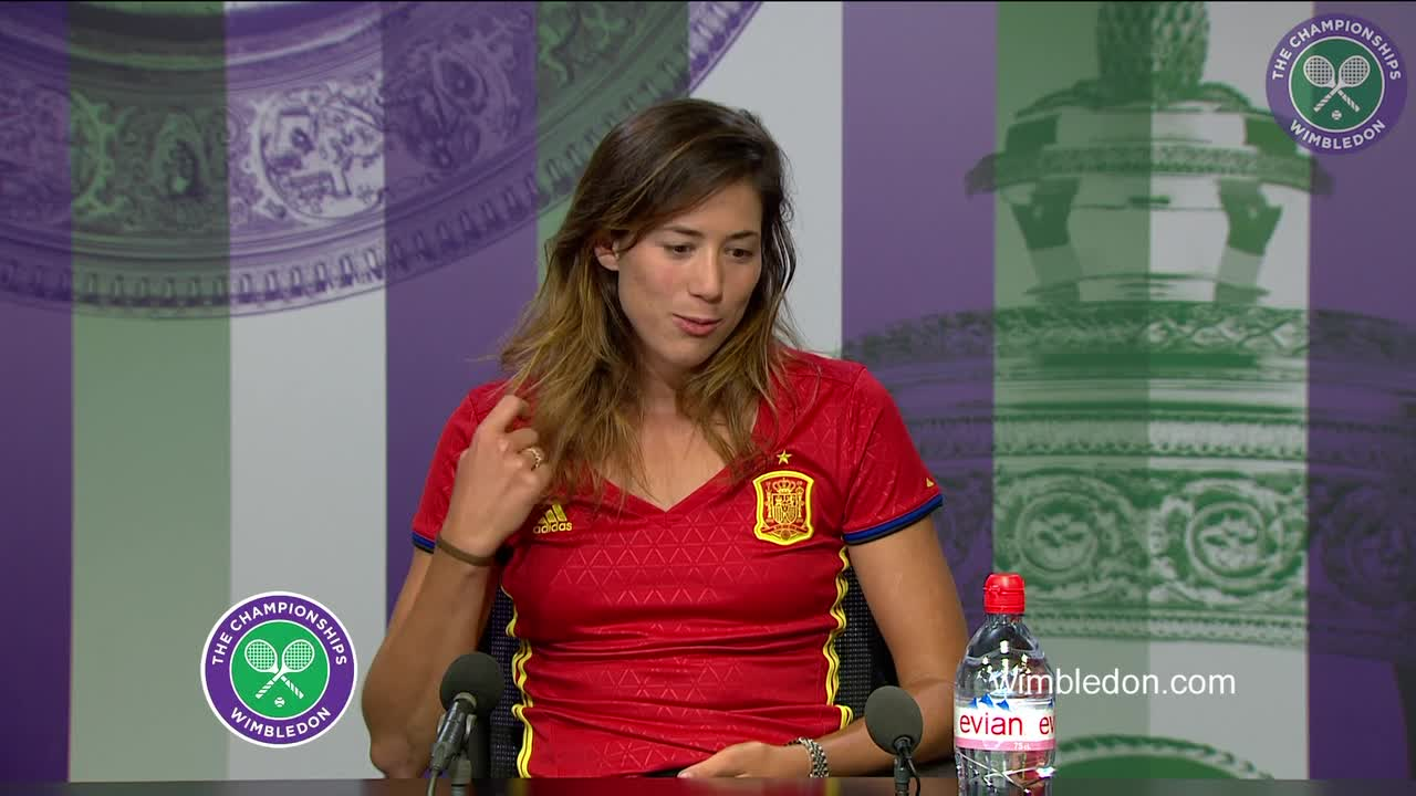 Garbiñe Muguruza pre-Championships press conference