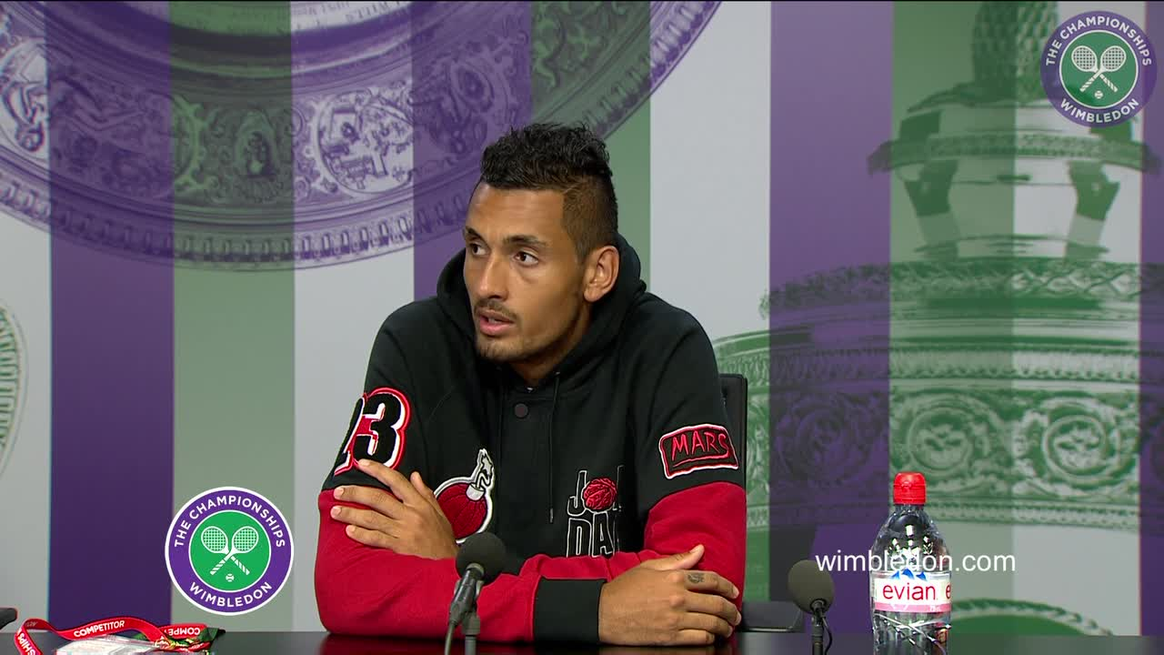 Nick Kyrgios pre-Championships press conference