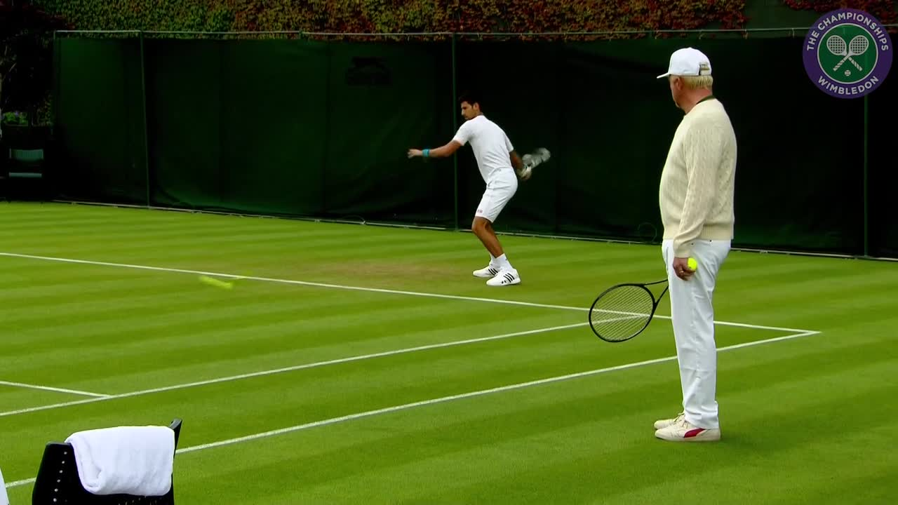 Djokovic practises ahead of first round clash with James Ward