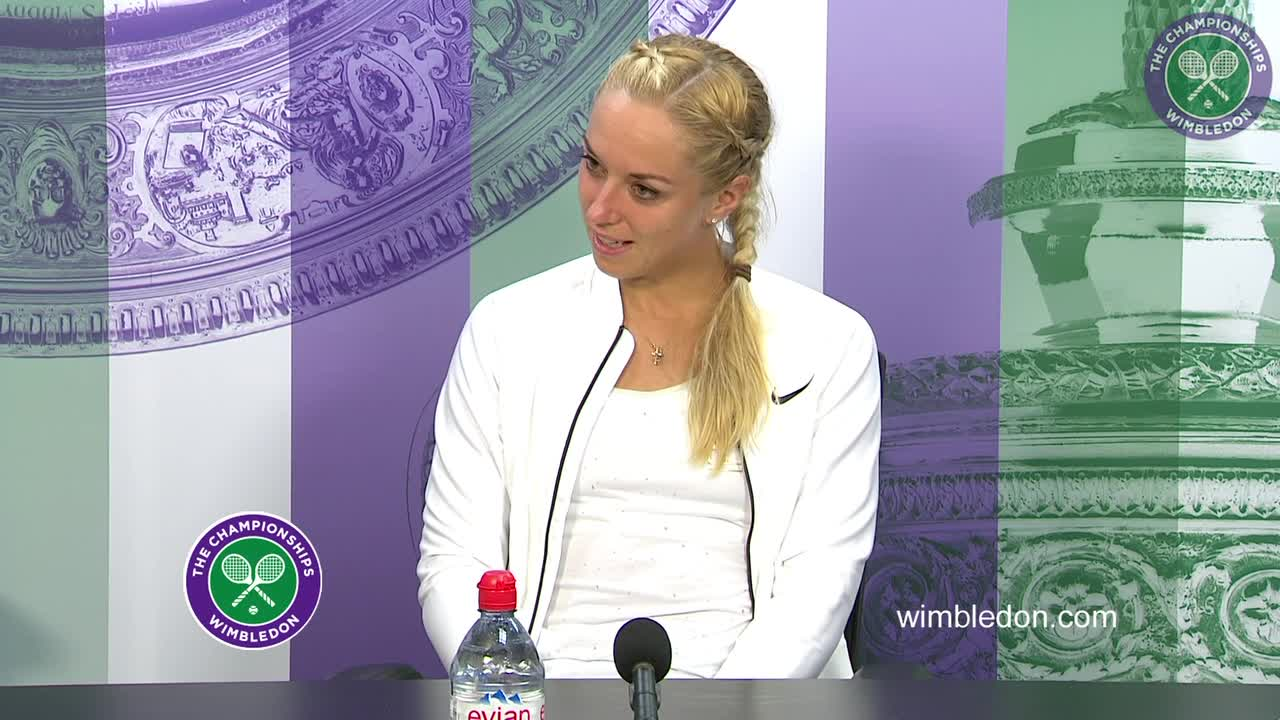 Sabine Lisicki first round press conference
