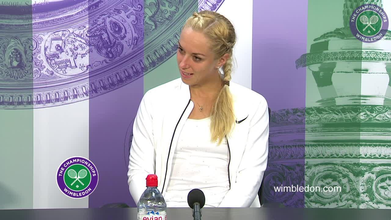 Sabine Lisicki first round press conference