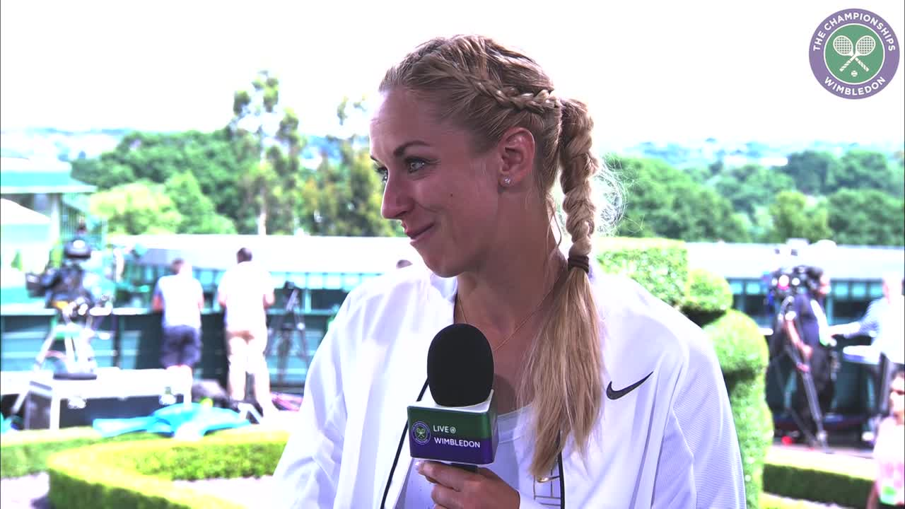 Sabine Lisicki reflects on first round victory
