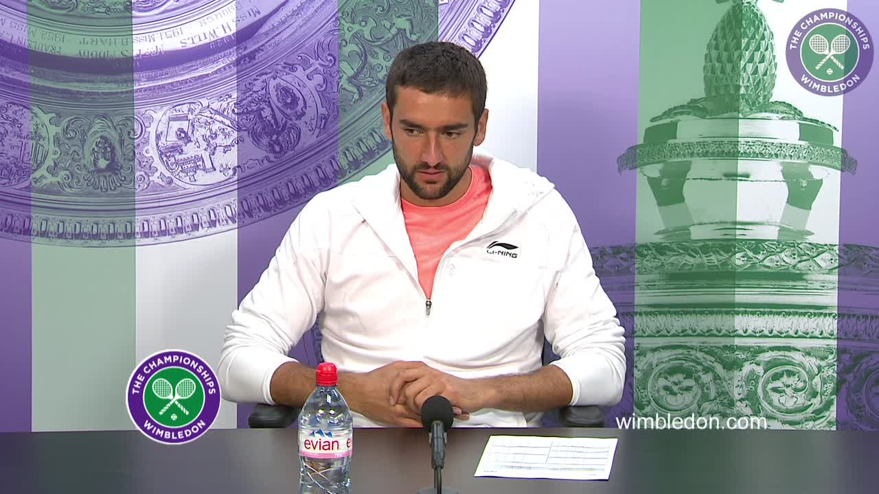 Marin Cilic first round press conference
