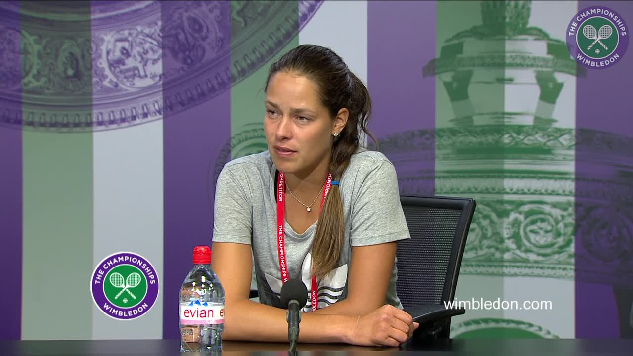 Ana Ivanovic first round press conference